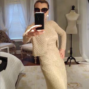 Carmen Marc Valvo evening dress set